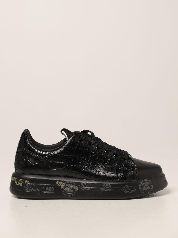 Sneakers Premiata: Sneakers Belle Premiata in pelle stampa cocco nero 1