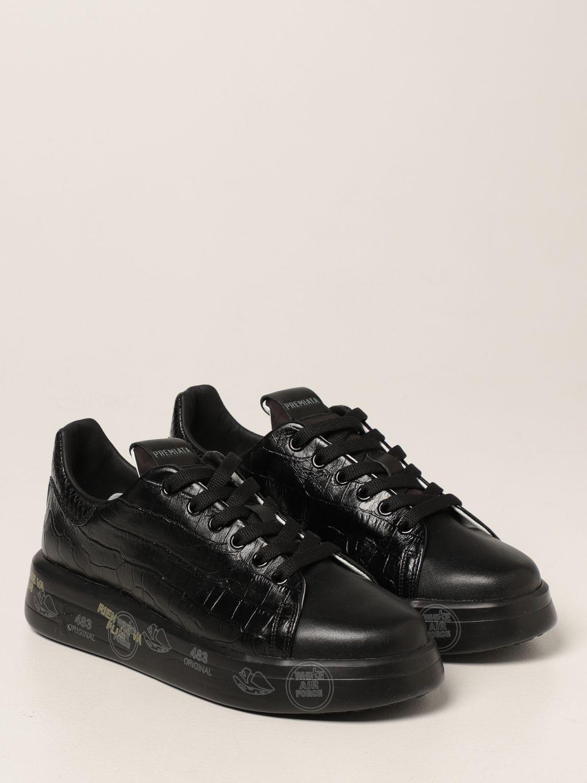 Sneakers Premiata: Sneakers Belle Premiata in pelle stampa cocco nero 2