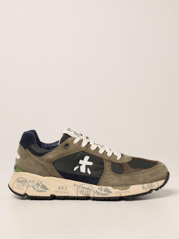 Sneakers Premiata: Sneakers Mase Premiata in nylon e camoscio bosco 1