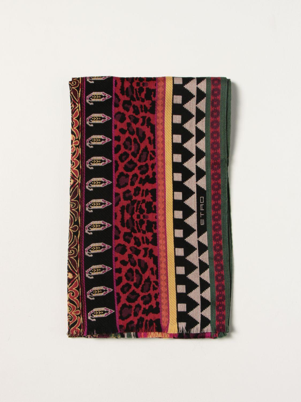 Sciarpa Etro: Sciarpa Etro in seta e lana rosso 1