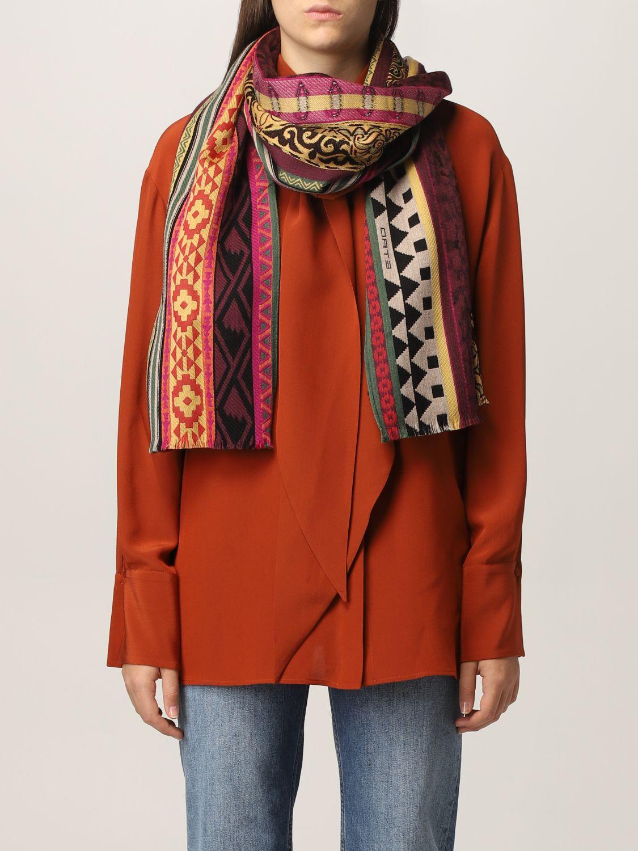 Sciarpa Etro: Sciarpa Etro in seta e lana rosso 2