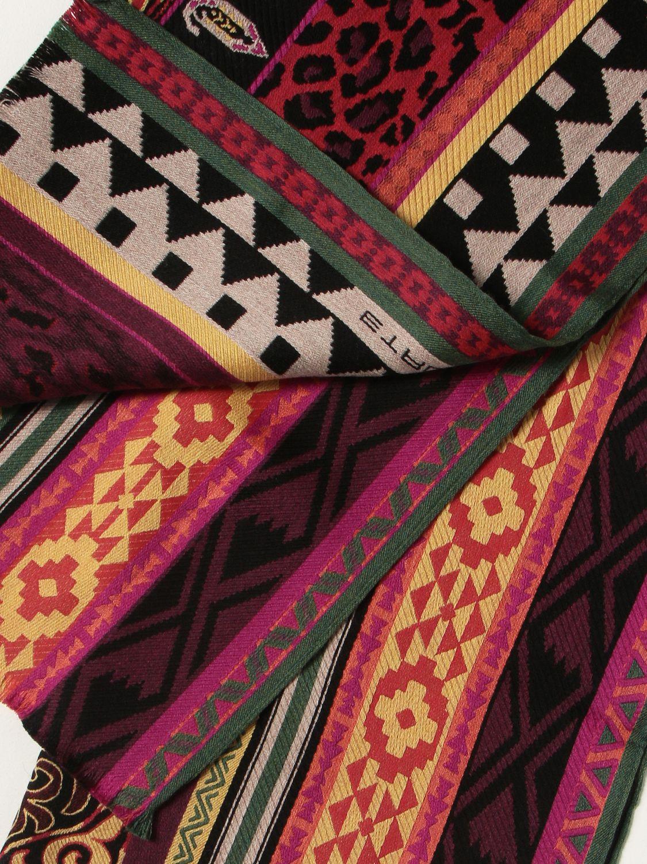Sciarpa Etro: Sciarpa Etro in seta e lana rosso 3