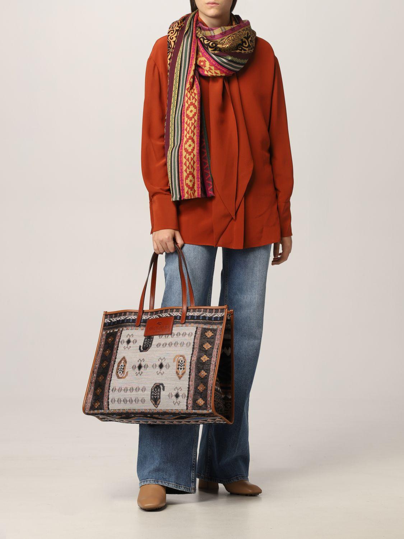 Sciarpa Etro: Sciarpa Etro in seta e lana rosso 4