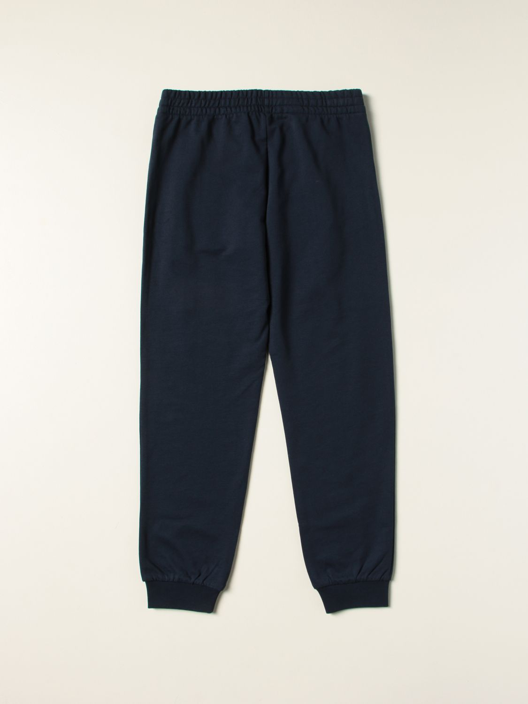 Pantalone Ea7: Pantalone jogging EA7 in cotone con logo blue navy 2