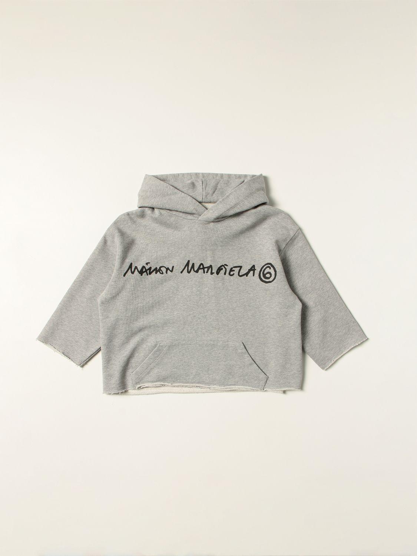 Свитер Mm6 Maison Margiela: Свитер Детское Mm6 Maison Margiela серый 1