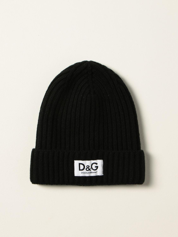Hat Dolce & Gabbana: Dolce & Gabbana bobble hat with logo black 1