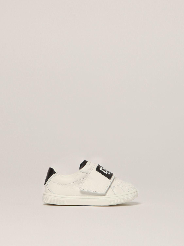 Scarpe Dolce & Gabbana: Sneakers Dolce & Gabbana in pelle con logo bianco 1