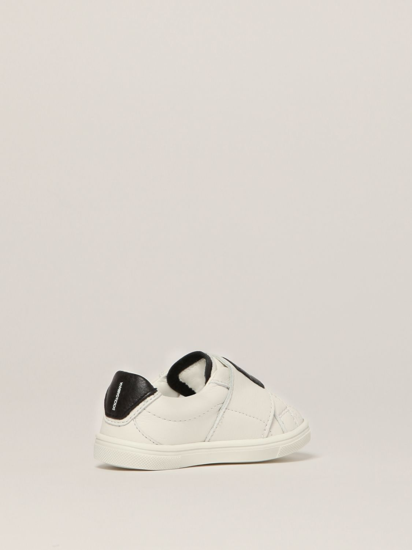 Scarpe Dolce & Gabbana: Sneakers Dolce & Gabbana in pelle con logo bianco 3