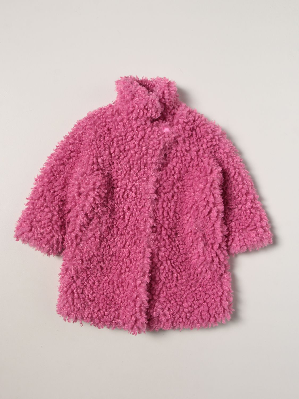 Coat Twin Set: Coat kids Twin Set pink 1