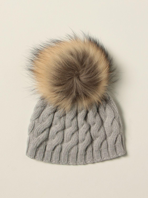 Hat Il Gufo: Il Gufo braided beanie hat grey 1