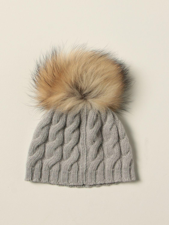 Hat Il Gufo: Il Gufo braided beanie hat grey 2