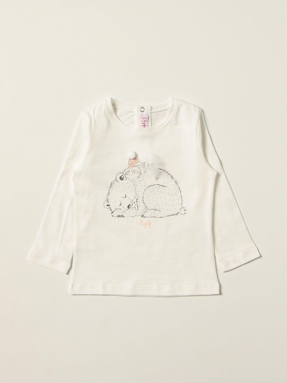 T-shirt Il Gufo: T-shirt kids Il Gufo milk 1