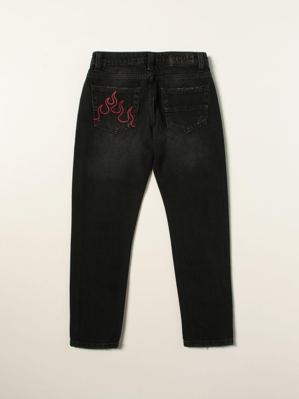 Jeans Gcds: Jeans a 5 tasche Gcds in denim denim 2