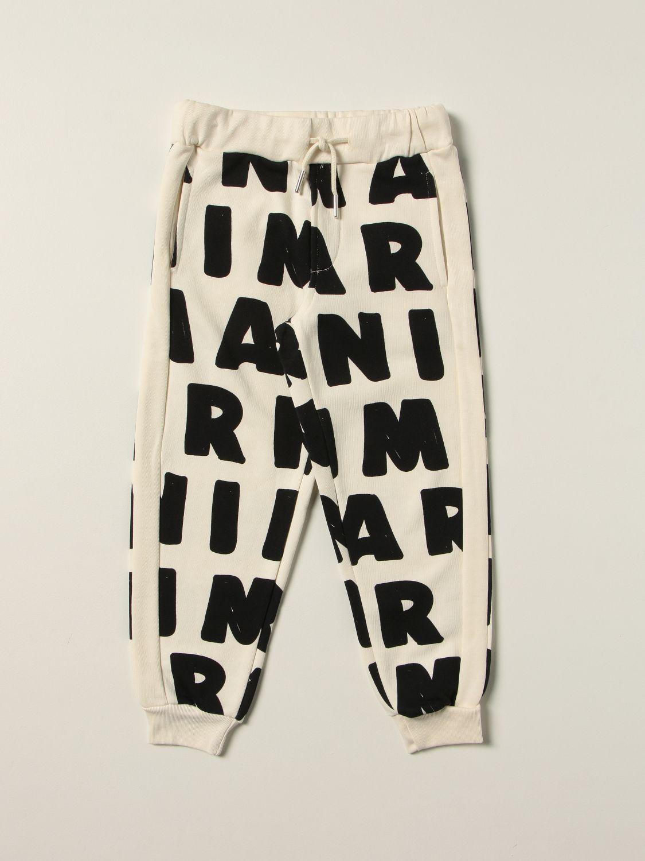 Pantalon Marni: Pantalon enfant Marni lait 1