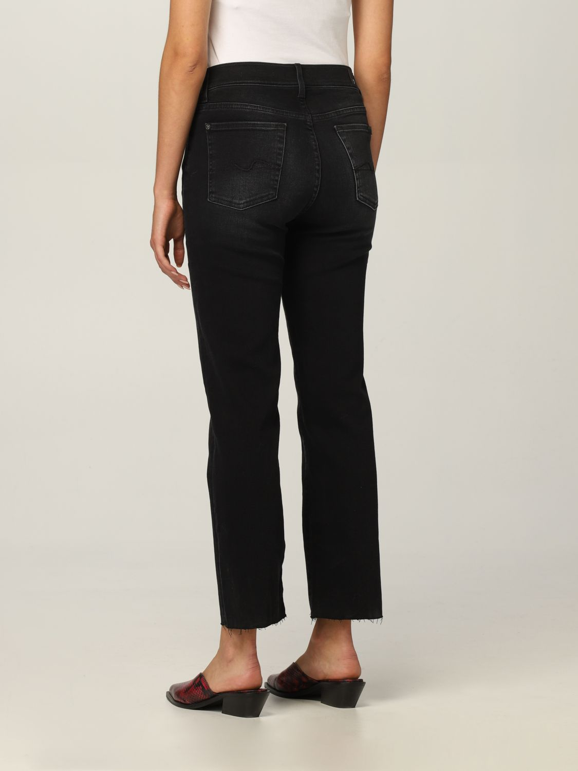 Jeans 7 For All Mankind: Jeans donna 7 For All Mankind nero 2