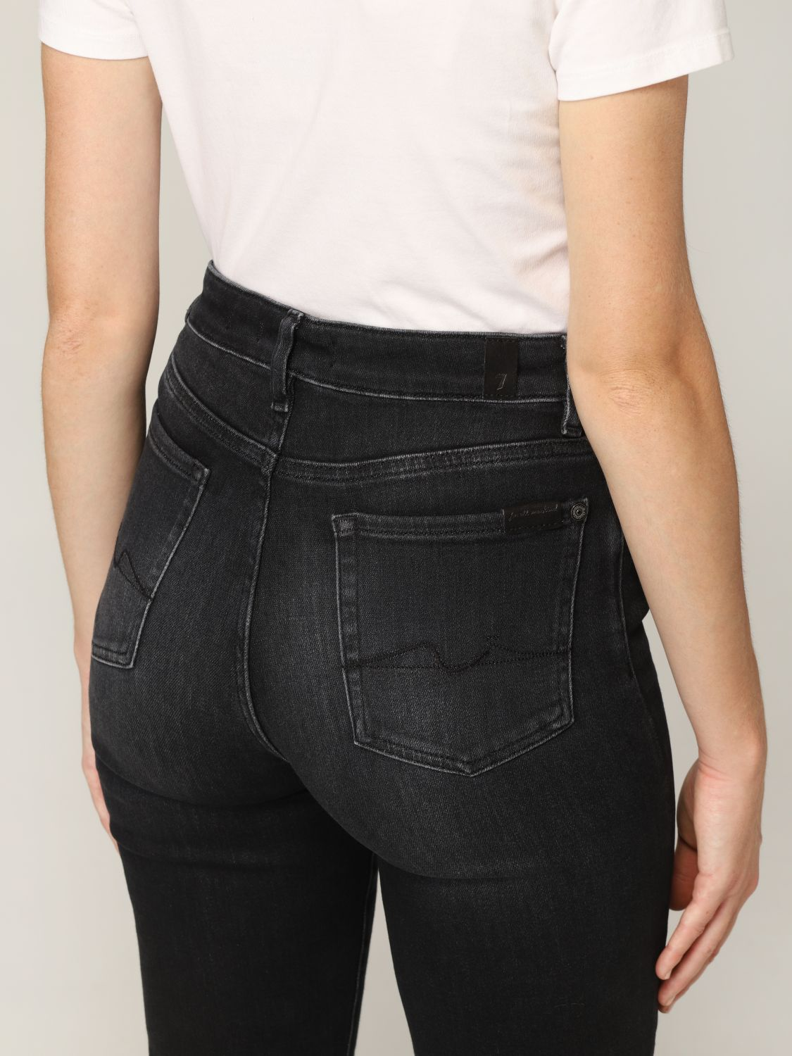 Jeans 7 For All Mankind: Jeans donna 7 For All Mankind nero 3