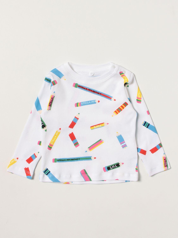 T-shirt Stella Mccartney: T-shirt Stella McCartney con stampe all over bianco 1