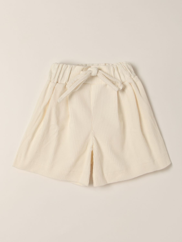 Short Piccola Ludo: Short kids Piccola Ludo brown 1