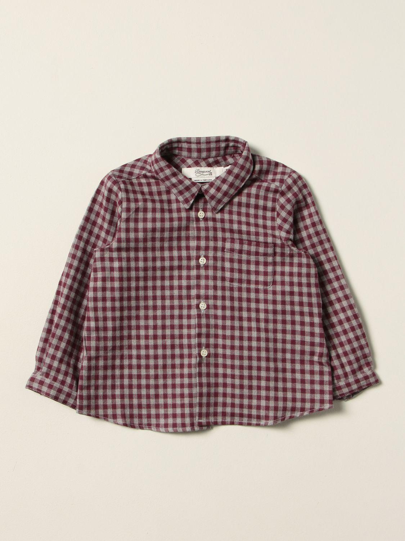 Shirt Bonpoint: Shirt kids Bonpoint burgundy 1