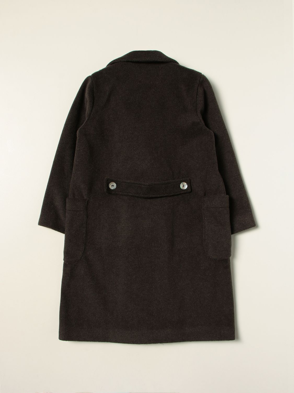 Coat Caffe' D'orzo: Coat kids Caffe' D'orzo grey 2