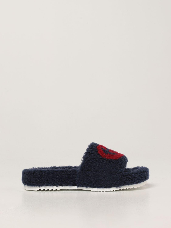 Scarpe Gucci: Sandalo Gucci in pelliccia sintetica blue 1