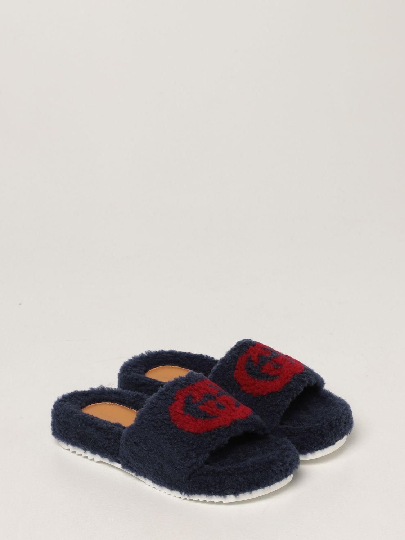 Scarpe Gucci: Sandalo Gucci in pelliccia sintetica blue 2