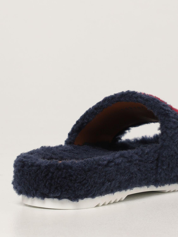 Scarpe Gucci: Sandalo Gucci in pelliccia sintetica blue 3