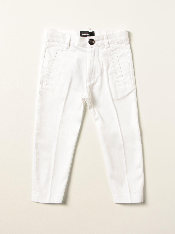 Trousers Dsquared2 Junior: Jeans kids Dsquared2 Junior white 1
