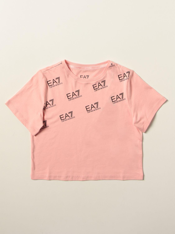 T-shirt Ea7: T-shirt enfant Ea7 rose 1