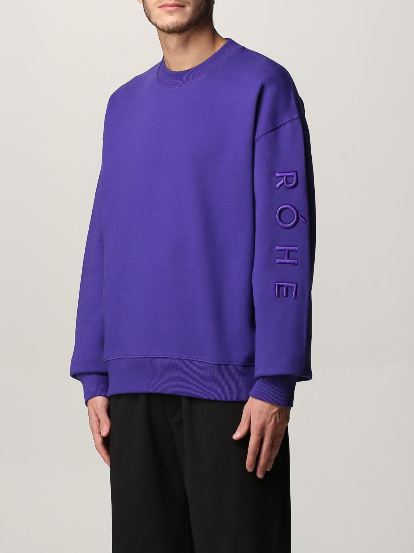 Sudadera Rohe: Sudadera hombre Rohe violeta 3