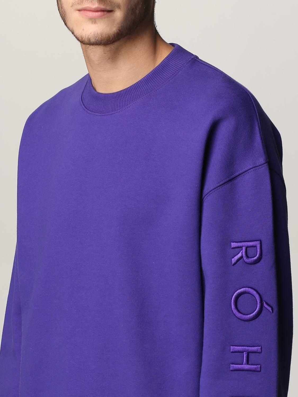 Sudadera Rohe: Sudadera hombre Rohe violeta 4