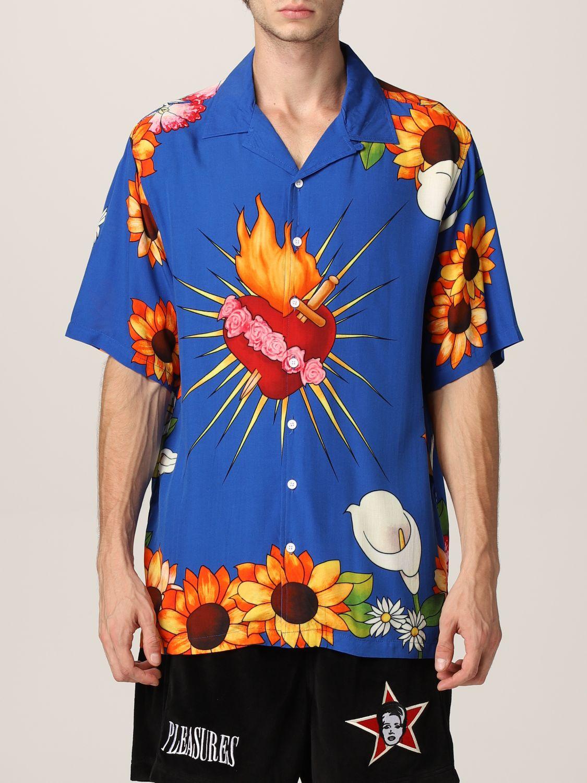 Camisa Pleasures: Camisa hombre Pleasures azul oscuro 1