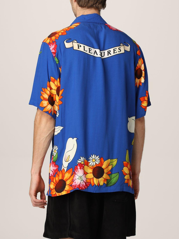 Camisa Pleasures: Camisa hombre Pleasures azul oscuro 2