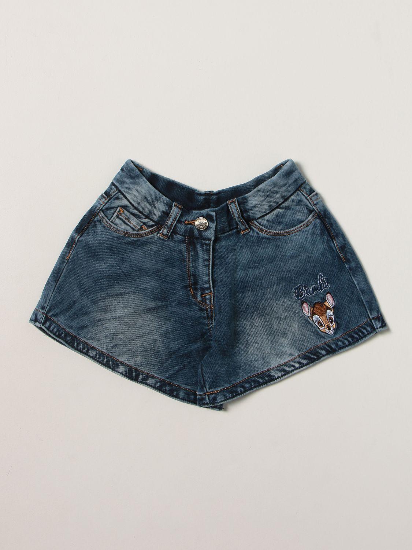 Jeans Monnalisa: Pantaloncino bambino Monnalisa blue 1