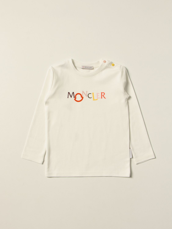 Combinato Moncler: T-shirt Moncler con logo multicolor panna 1