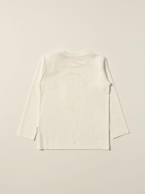 Combinato Moncler: T-shirt Moncler con logo multicolor panna 2