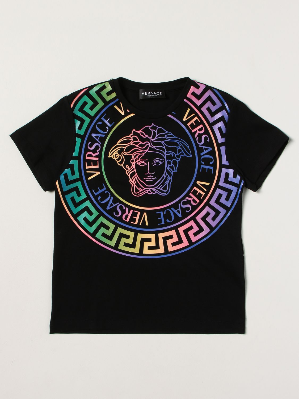 T-Shirt Young Versace: T-shirt kinder Versace Young schwarz 1