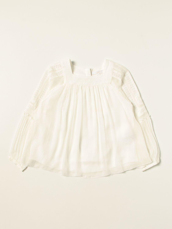 Chemise Chloé: Chemise enfant ChloÉ blanc 1