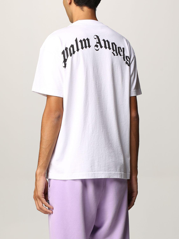 T-shirt Palm Angels: T-shirt uomo Palm Angels bianco 3