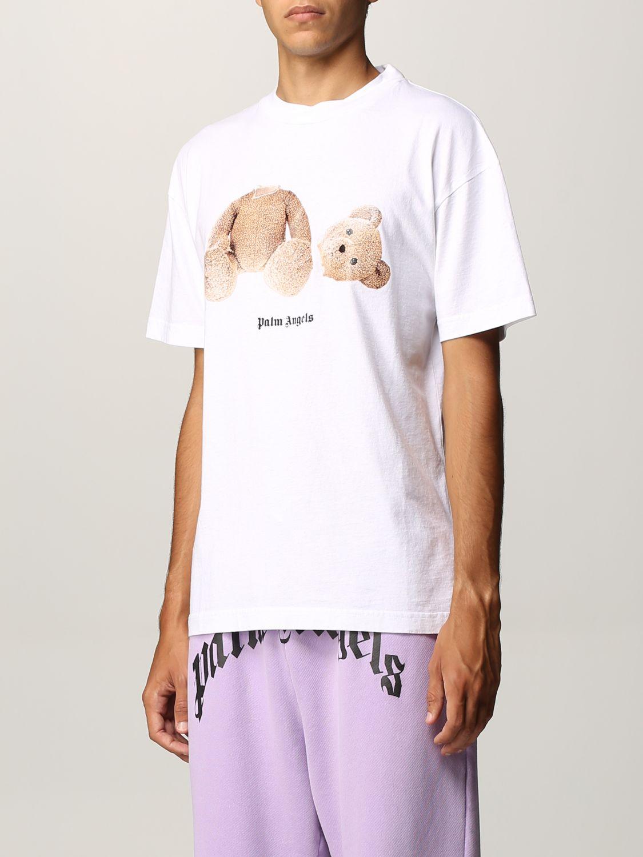 T-shirt Palm Angels: T-shirt uomo Palm Angels bianco 4