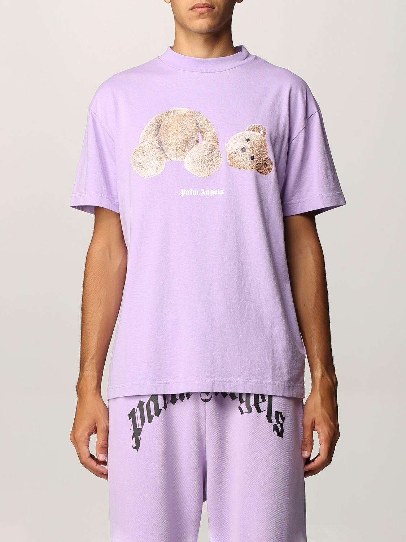 T-shirt Palm Angels: T-shirt uomo Palm Angels lilla 1
