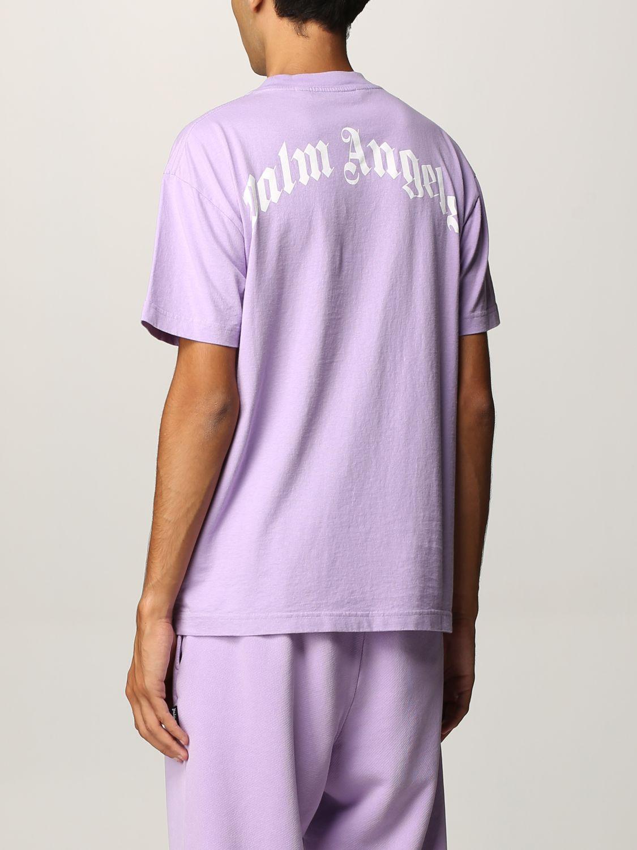 T-shirt Palm Angels: T-shirt uomo Palm Angels lilla 3