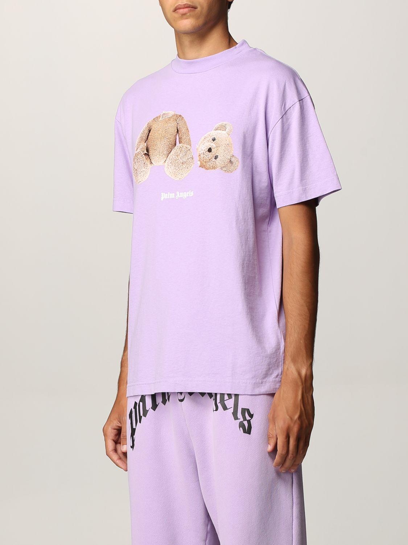 T-shirt Palm Angels: T-shirt uomo Palm Angels lilla 4