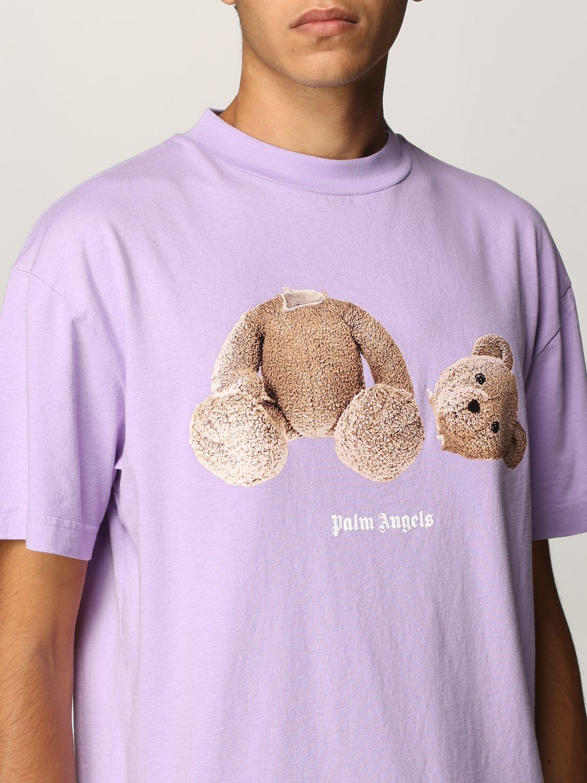 T-shirt Palm Angels: T-shirt uomo Palm Angels lilla 5