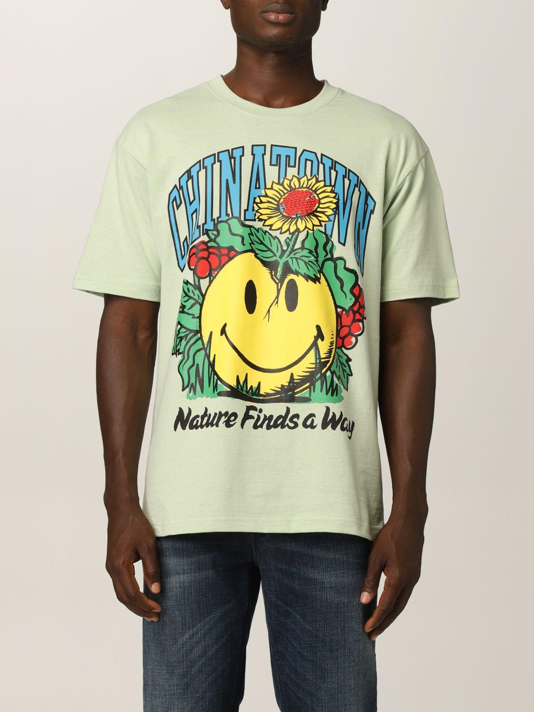 Camiseta Chinatown Market: Camiseta hombre Chinatown Market verde 1