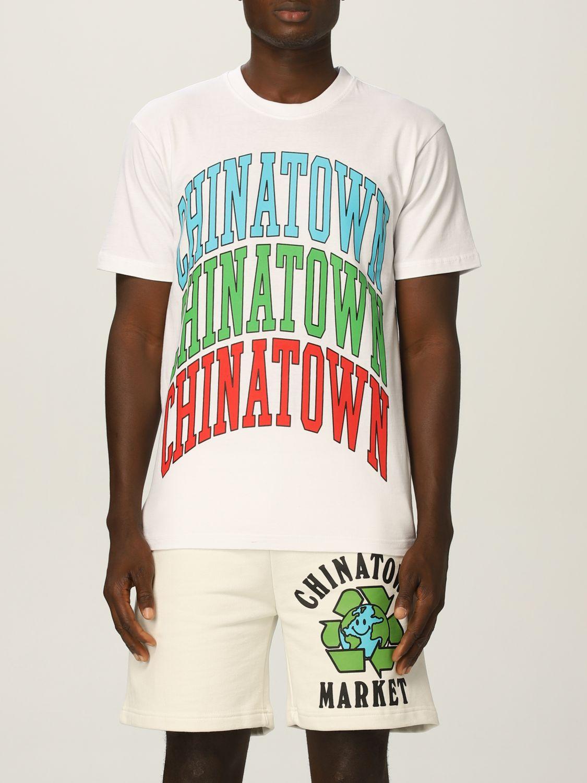 T-Shirt Chinatown Market: T-shirt herren Chinatown Market weiß 1