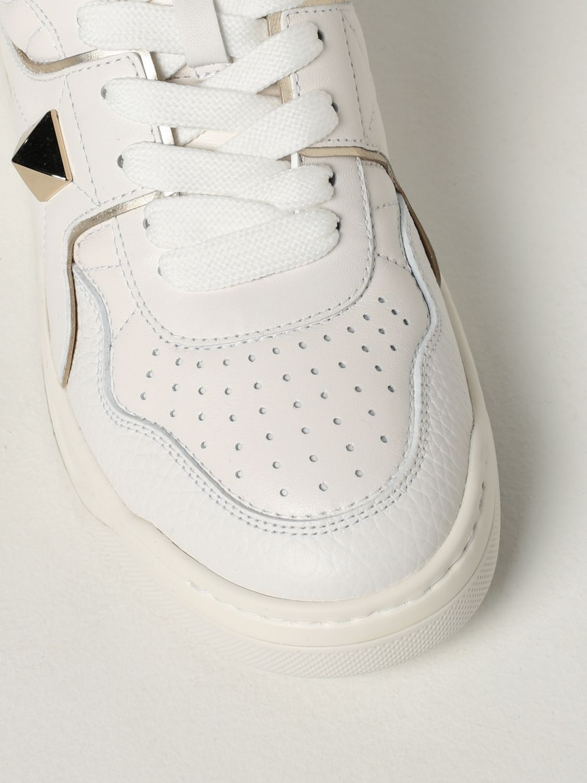 Sneakers Valentino Garavani: Sneaker Valentino Garavani in nappa con borchia bianco 4