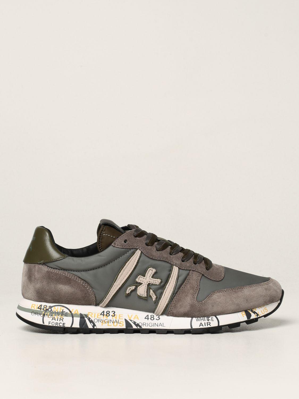 Sneakers Premiata: Sneakers Eric Premiata in nylon e camoscio grigio 1