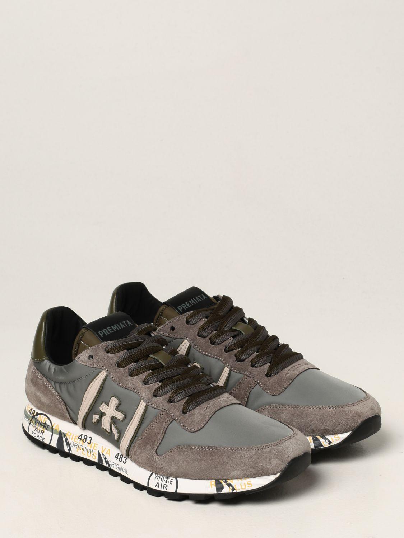 Sneakers Premiata: Sneakers Eric Premiata in nylon e camoscio grigio 2