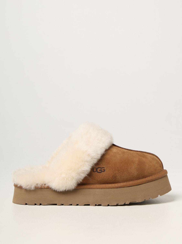 Flat shoes Ugg Australia: Ugg Australia suede sabot brown 1